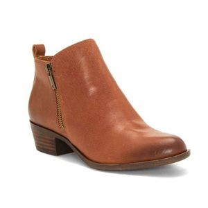 Lucky Brand Sz 7.5 Basel Flat Toffee Leather boots